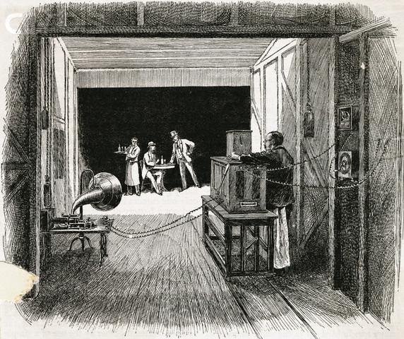 Interior of Thomas Edison's Kinetograph Theater
