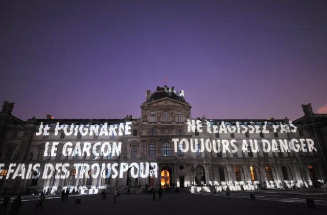 """Xenon for Paris"" a work by US conceptua"