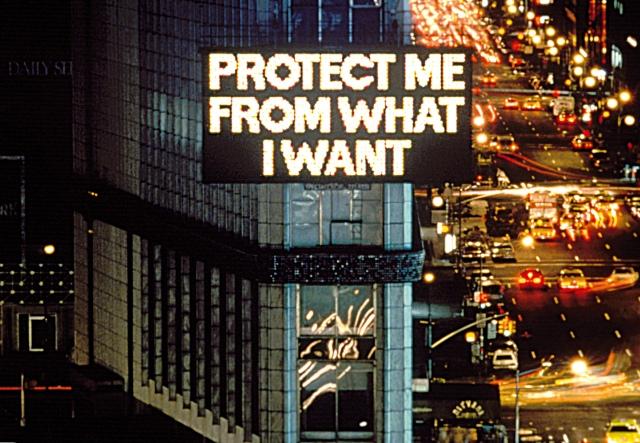 Times Square, 1986 Text: Survival, 1983-85 Photo: John Marchael